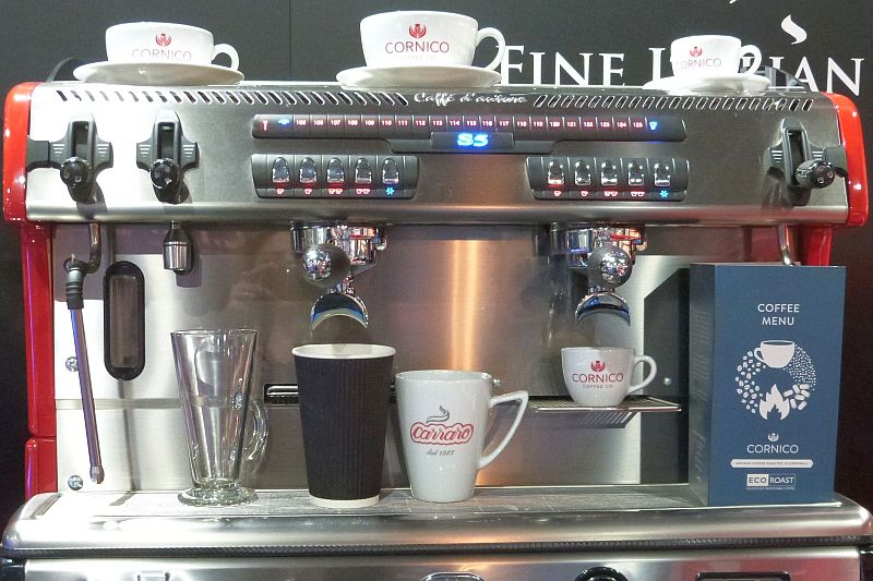 Coffee machine at the Expowest Cornwall trade show 2019